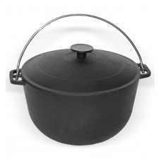 Cast iron touristic kazan with lid, volume 15L