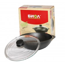 BIOL Cast-iron frying pans WOK 26cm
